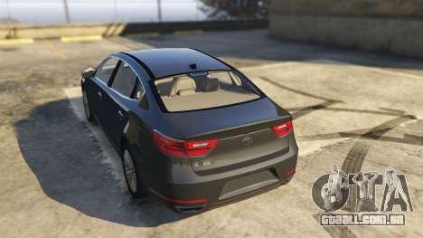 GTA 5 Kia Cadenza 2017 traseira vista lateral esquerda