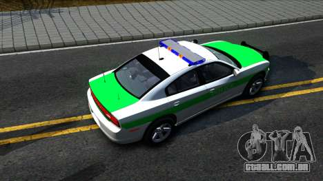 Dodge Charger German Police 2013 para GTA San Andreas vista traseira