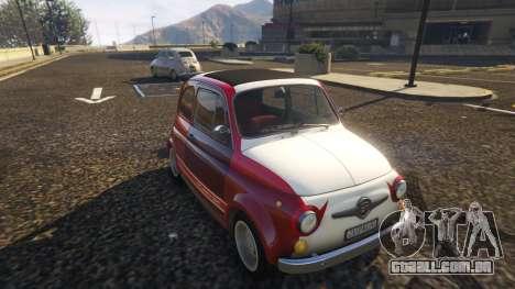 GTA 5 Fiat Abarth 595ss Racing ver voltar vista