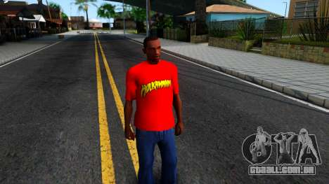 Hulk Hogan T-Shirt para GTA San Andreas segunda tela