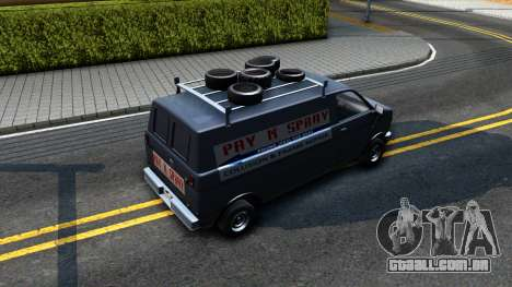 GTA V Burrito with GTA SA Ads para GTA San Andreas vista traseira