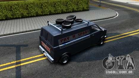 GTA V Burrito with GTA SA Ads para GTA San Andreas vista traseira
