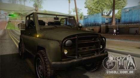 УАЗ-3151 CoD4 MW Remasterizada de FERTILIZAÇÃO i para vista lateral GTA San Andreas