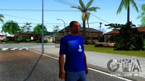 T-Shirt PS4 para GTA San Andreas segunda tela