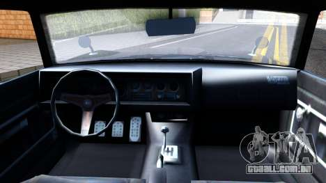 GTA V Declasse Vigero para GTA San Andreas vista interior