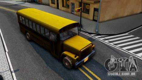 School Bus Driver Parallel Lines para GTA San Andreas vista direita