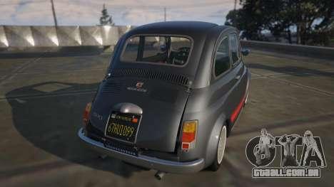 GTA 5 Fiat Abarth 595ss Street ver traseira vista lateral esquerda