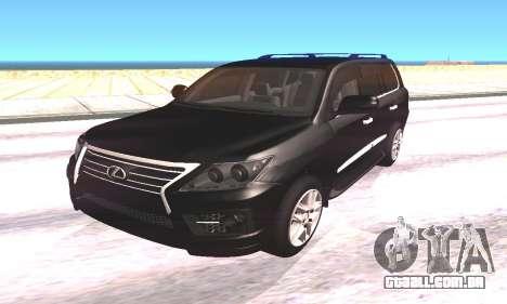 Lexus LX570 para GTA San Andreas