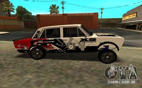 VAZ 2106 DERIVA para GTA San Andreas traseira esquerda vista