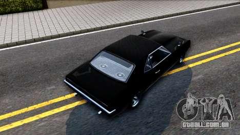GTA V Declasse Vigero para GTA San Andreas vista traseira