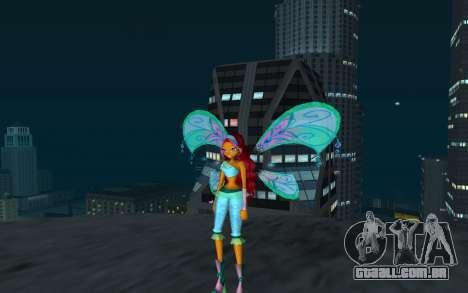 Aisha Believix from Winx Club Rockstars para GTA San Andreas segunda tela