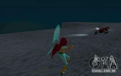Aisha Believix from Winx Club Rockstars para GTA San Andreas por diante tela