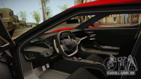Ford GT 2017 No Stripe para GTA San Andreas vista interior