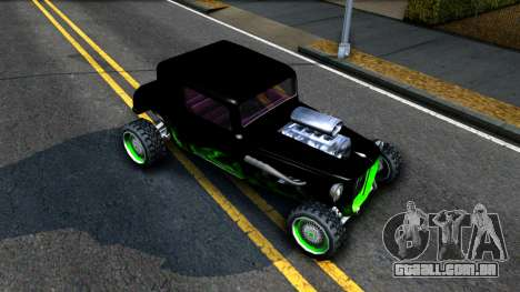 Green Flame Hotknife Race Car para GTA San Andreas vista direita