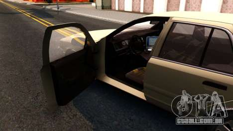 Ford Crown Victoria Unmarked 2009 para GTA San Andreas vista interior