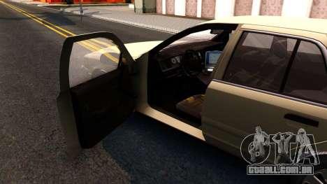 Ford Crown Victoria Unmarked 2009 para GTA San Andreas vista interior