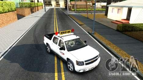2007 Chevy Avalanche - Pilot Car para GTA San Andreas vista traseira