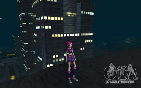 Tecna Rock Outfit from Winx Club Rockstars para GTA San Andreas