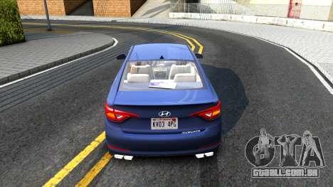 Hyundai Sonata 2016 para GTA San Andreas vista direita