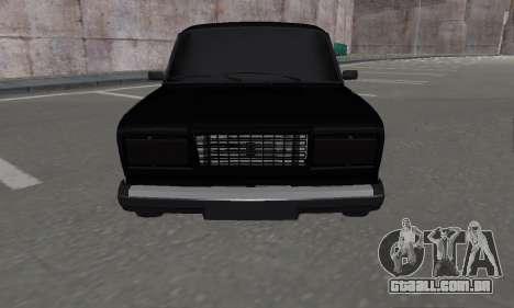 VAZ 2107 Black Jack para GTA San Andreas traseira esquerda vista