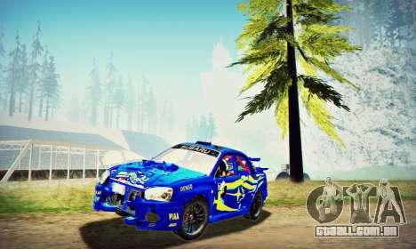 Subaru Impreza WRX STI WRC Rally 2005 para vista lateral GTA San Andreas