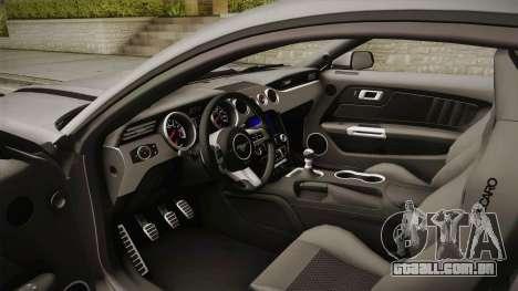 Ford Mustang RTR Spec 2 2015 para GTA San Andreas vista interior