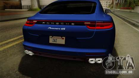 Porsche Panamera 4S 2017 v2.0 para GTA San Andreas