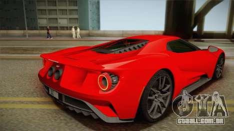 Ford GT 2017 No Stripe para GTA San Andreas esquerda vista