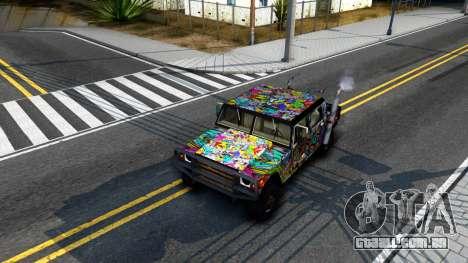Sticker Patriot para GTA San Andreas vista interior
