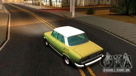 Skoda 100 para GTA San Andreas traseira esquerda vista