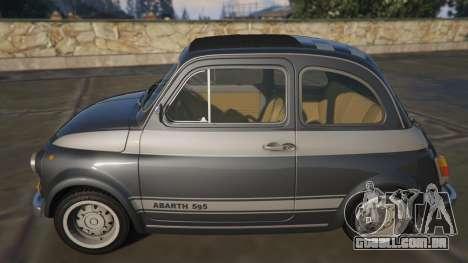 GTA 5 Fiat Abarth 595ss Racing ver vista lateral esquerda