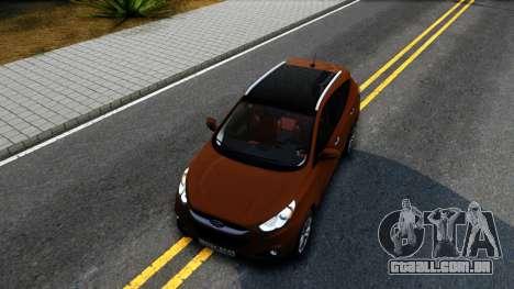 Hyundai ix35 Aze para GTA San Andreas vista interior