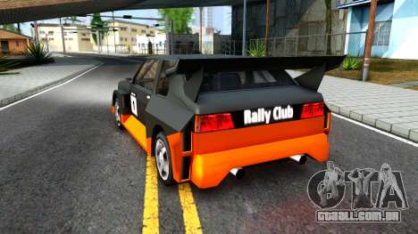 Rally Club para GTA San Andreas vista traseira