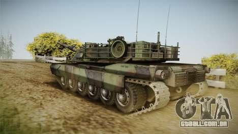 Abrams Tank Woolant Camo para GTA San Andreas esquerda vista