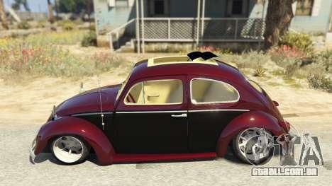 GTA 5 Volkswagen Beetle vista lateral esquerda