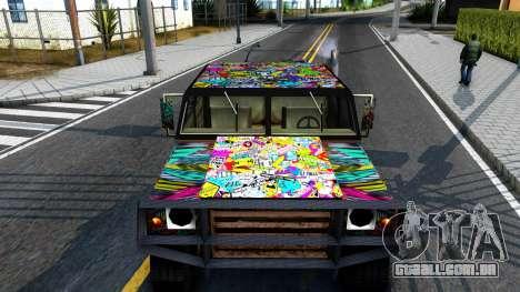 Sticker Patriot para GTA San Andreas vista direita