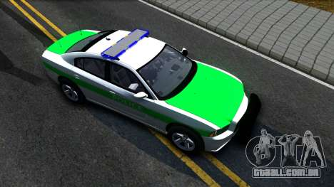 Dodge Charger German Police 2013 para GTA San Andreas vista direita
