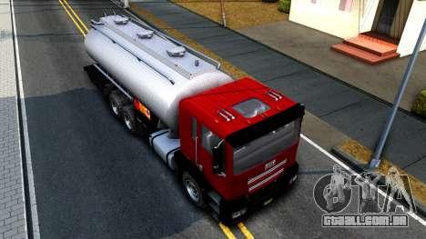 GTA V MTL Dune Oil Tanker para GTA San Andreas vista traseira