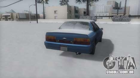 Previon Winter IVF para GTA San Andreas vista direita