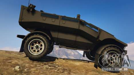 GTA 5 Punisher Unarmed Version vista lateral esquerda