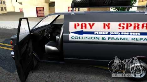 GTA V Burrito with GTA SA Ads para GTA San Andreas vista interior