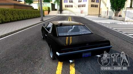 GTA V Declasse Vigero para GTA San Andreas traseira esquerda vista