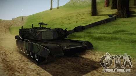 Abrams Tank Woolant Camo para GTA San Andreas vista direita