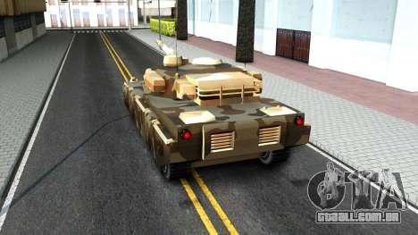 Rhino GTA V para GTA San Andreas vista traseira