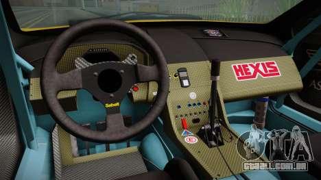 Aston Martin Racing DBRS9 GT3 2006 v1.0.6 Dirt para GTA San Andreas vista interior