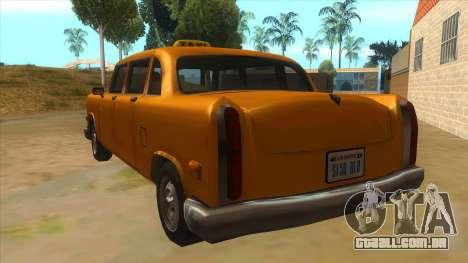 VC Cabbie Xbox para GTA San Andreas traseira esquerda vista