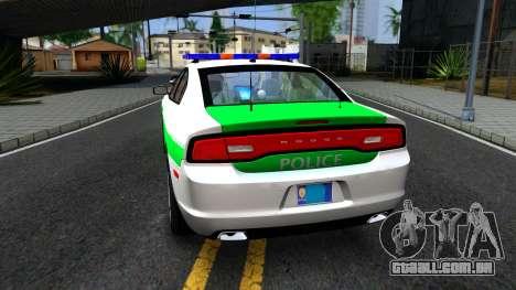 Dodge Charger German Police 2013 para GTA San Andreas traseira esquerda vista