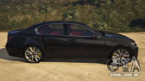 GTA 5 Lexus GS 350 vista lateral esquerda