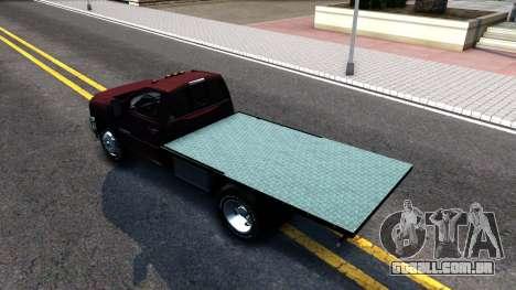 Chevrolet HD 3500 2013 para GTA San Andreas traseira esquerda vista