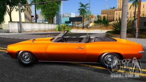 GTA V Declasse Vigero Retro Rim para GTA San Andreas esquerda vista